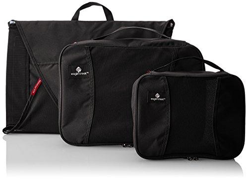 Eagle Creek Pack-it Kit de démarrage – Lot (Taille M Vêtement Chemise/Cube Moyen/Petit Cube), Noir (Noir) - EC-41193010