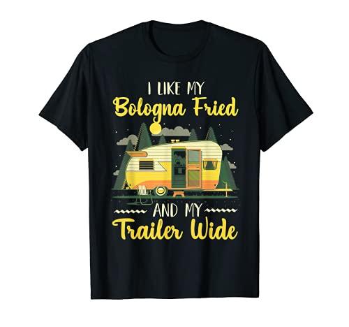 Me gusta mi bolonia frito y mi remolque ancho Camiseta