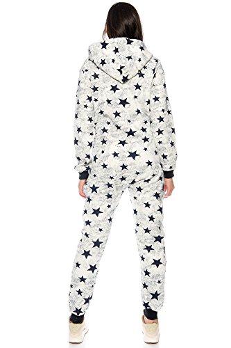 JUmpsuit Stars Jumpsuit Overall Einteiler Ganzkörperanzug von Crazy Age Sternen Sternschnuppe (Navy) - 4