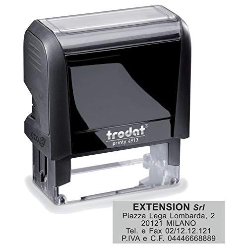 Timbro Autoinchiostrante Trodat Printy 4913 Personalizzato mm 58X22 Completo di Personalizzazione