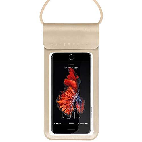 HWYP wasserdichte Handy-Tasche, schwimmend, mit Armband und Umhängeband, S-1