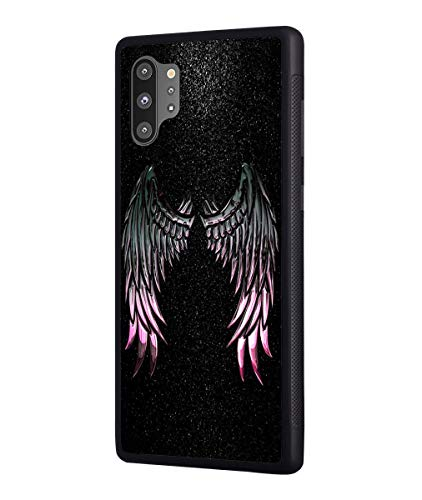 Galaxy Note 10 Plus/Note 10 Plus 5G Case, Slim Impact Resistant Rubber Plustective Cover for Samsung Galaxy Note 10 Plus (2019) - Angel Wings