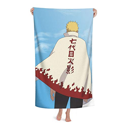 Anime NARUTO Uzumaki Naruto Toalla de baño Niños Playa Natación Hogar Hotel Suave Extra Grande Fibra Superfina Para Niñas Niños 32X52In