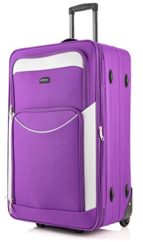 DK Luggage Starlite Super Lightweight DK16 Extra Large 32' Suitcases 2 Wheeled Purple