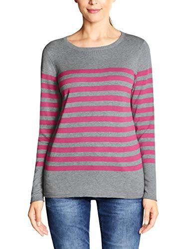 Cecil Damen 300962 Pullover, Mehrfarbig (neon Active pink 21749), XX-Large (Herstellergröße:XXL)