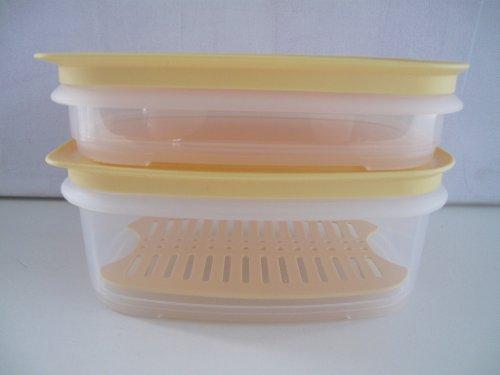 TUPPERWARE Frigosmart piccolo 640ml + 260ml + Griglia + Sigillo bianco giallo