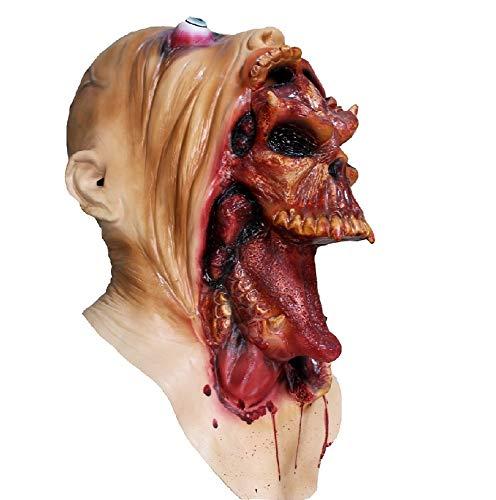 Hengyutoy Mask Halloween Kostüm Prop Horror schreckliche Latex Maske Erwachsene Größe