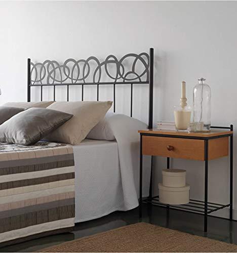 Cabecero de forja Huesca - Blanco 36, Cabecero para colchón de 180 cm