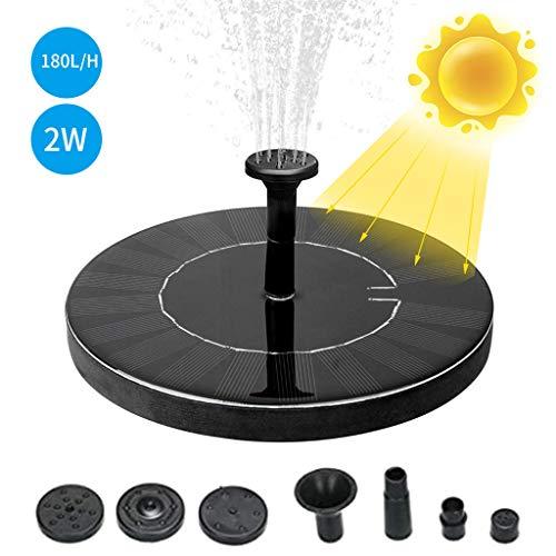 NHNX Solar Springbrunnen Mit Batterie, 2W Teichpumpe Zimmerbrunnen Zierbrunnen Fontäne Pumpe Solarpumpe Freistehend Schwimmend Solar Vogeltränke Wasserpumpen für Garten Fischteich