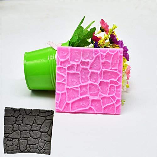 KXCLL 2 Pcs Mur De Briques en Pierre Antique Texture Fudge Gâteau Imitation De Murs en Pierre Brique Moule Gâteau Périmètre Décoration
