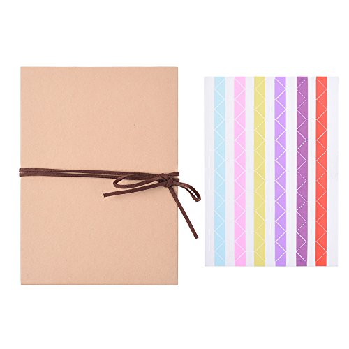 BCP Scrapbooks Hardcover Photo Albums Photos Hand Made Kraft Paper for DIY Scrapbooking Christmas Sketchbook Wedding Guest Photo Album 5 x 7 Inch