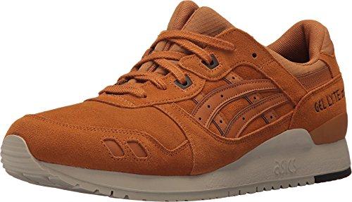 ASICS Mens Gel-Lyte III Lace Up Sneakers Casual Sneakers, Tan, 11.5