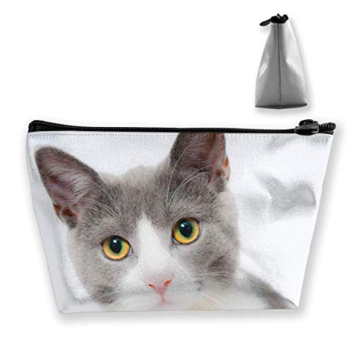 Cat Pet Animal Makeup Bag Large Trapezoidal Storage Travel Bag Wash Cosmetic Pouch Pencil Holder Zipper Waterproof