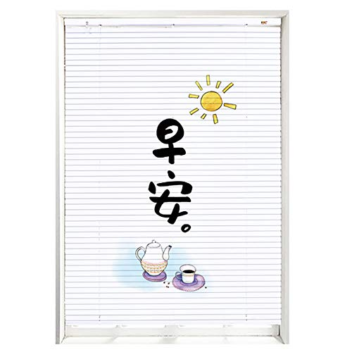 White Bedroom Blackout Window Shades, 1inch Metal Blades Light Filtering Cordless Blinds Inside/Outside Mount, Cut to Size (Size : 120×210cm)