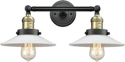 Innovations 208-BAB-G1 2 Light Bathroom Fixture, Black Antique Brass