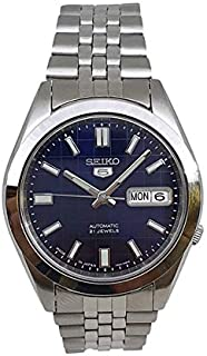 Seiko 5 automatic 21 Jewels Calendar blue dial Stainless steel watch