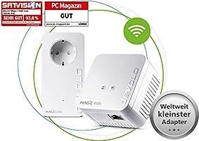 devolo Magic 1 – 1200 WiFi mini Starter Kit: Kompaktes Set mit 2 Powerline WiFi-Adaptern für sicheres Heimnetzwerk (1200...