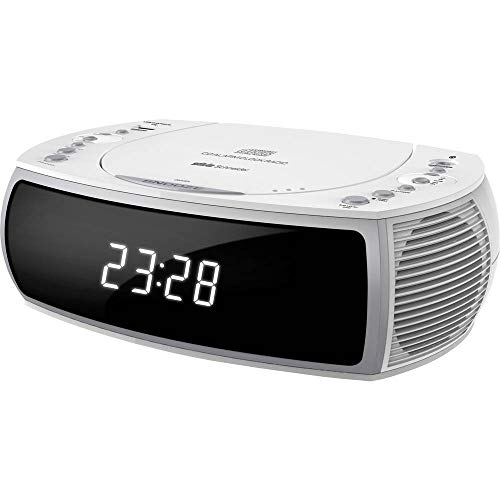Silva Schneider CCD 16 weiß UKW Radiowecker Lautsprecher Uhrenradio USB White