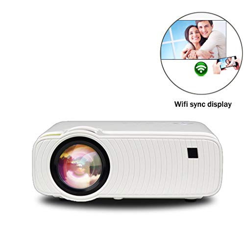 Cajolg Mini draagbare projector versie Mobile 1280 x 720 dpi Wi-Fi versie Android geïntegreerde projector, videoprojector Full HD