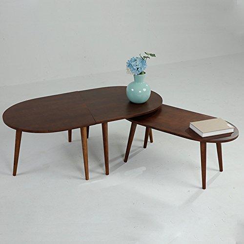 Tische HUO, Couchtisch Beistelltisch moderner Fester hölzerner ovaler Kleiner Kaffeetisch -120 * 42 * 60CM Multifunktional (Farbe : Walnut Color, größe : 30cm)