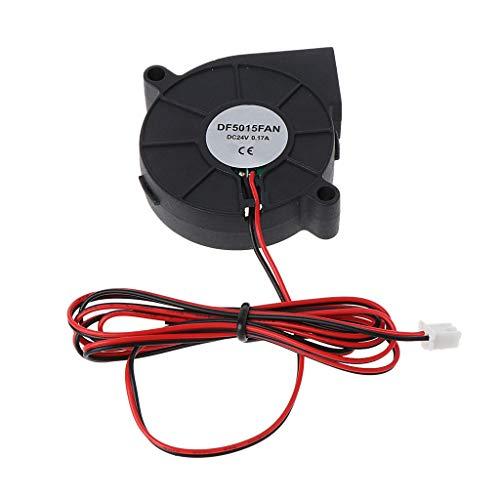 Qirun Ventilador sin cepillo de enfriamiento DC 5015 50x50x15mm Mute Sleeve Bearing