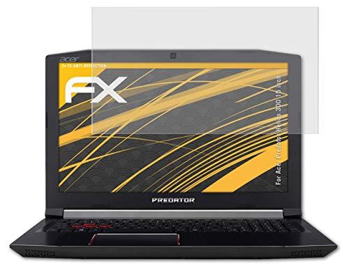 atFolix Panzerfolie kompatibel mit Acer Predator Helios 300 15 inch Schutzfolie, entspiegelnde & stoßdämpfende FX Folie (2X)