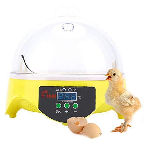 GRX-ZNLJT Brutkasten Inkubator, mit Effizienter LED Beleuchtung Feuchtigkeitsfest Energiesparend Kühltechnologie bis 7 Eier