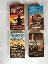 Johnstone (4 Books) Butch Cassidy The Lost Years -- Butchery of the Mountain Man -- Sidewinders Bleeding Texas -- Winchester 1886