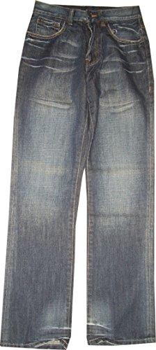Ecko unltd. Avec fermeture éclair. Pantalon Loose Fit Jeans. 100% coton. Taille 28 longueur totale 104 cm Tour de taille de 71 cm