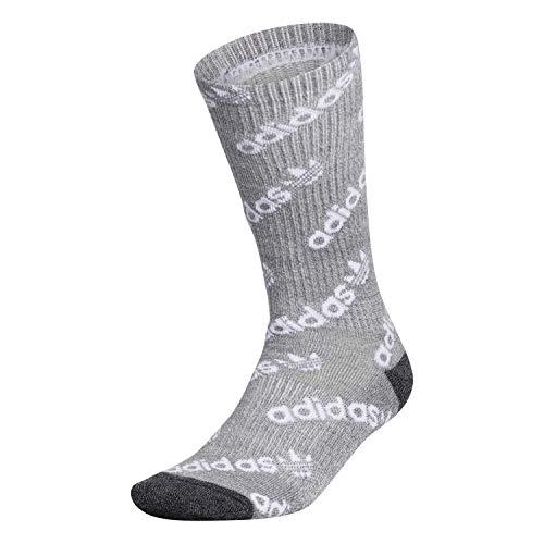 adidas Originals Crew - Calcetines para hombre (1 par), Hombre, Calcetines, EV7739, Onix Onix - Marla, color gris y negro, large