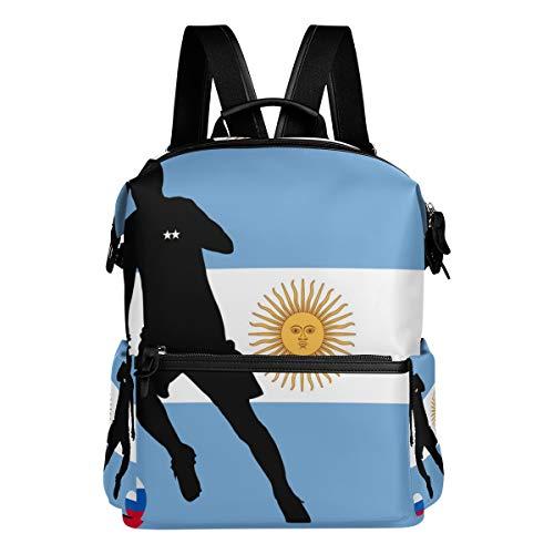 Montoj Argentina Bandera Fútbol Bolsa de Viaje Campus Mochila