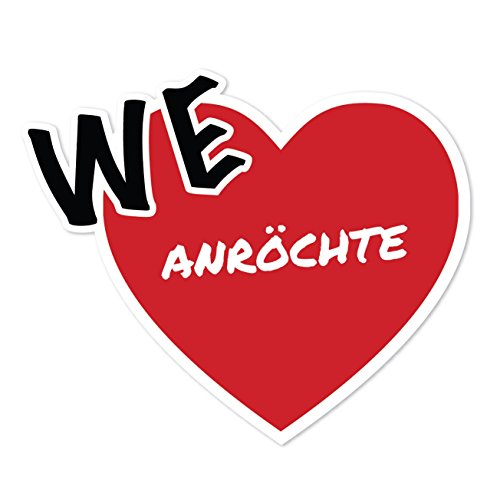 JOllify Sticker - ROOK - 10cm - Design: We love - Wir liebe