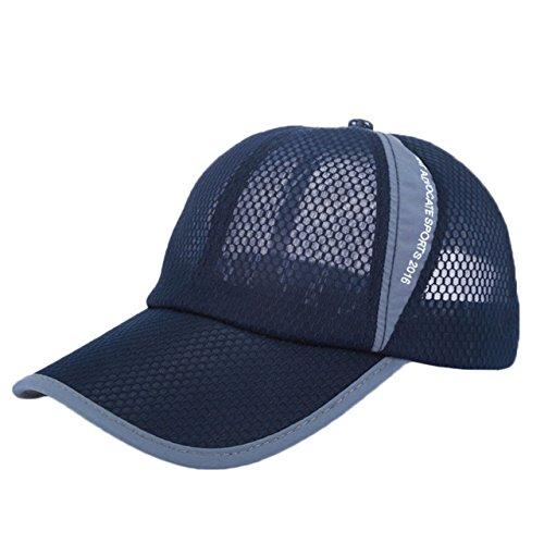 BUZZxSELECTION(バズ セレクション) エアーメッシュ UVカット ランニング キャップ 帽子 メンズ レディース CAP001 (04ネイビー)