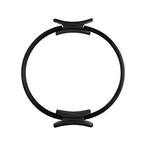 EmpireAthletics – Pilates-Ring mit Polstern und 35 cm Durchmesser für Pilates, Yoga, Ganzkörper-Training, Gymnastik UVM. – Core-Trainer Circle Kreis Magic-Circle in SCHWARZ