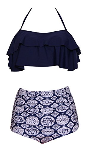PinUp Angel Badeanzug für Frauen, günstiger Sommer, Vintage-Bikini, Strandmode - - (38 DE/40 DE) X-Large