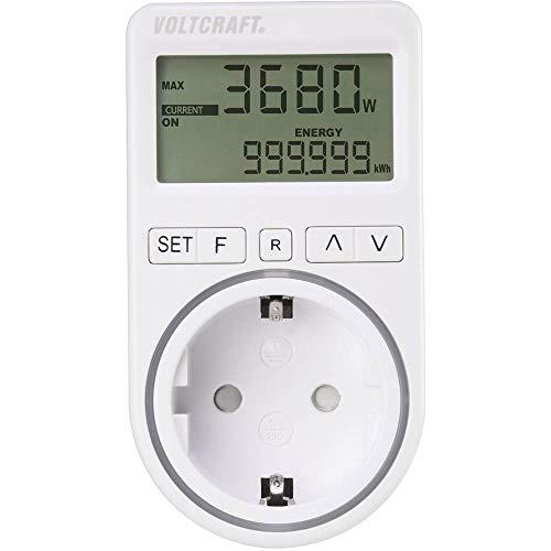 VOLTCRAFT SEM4500 Energiekosten-Messgerät Kostenprognose, Alarmfunktion, Stromtarif einstellbar