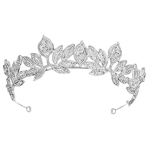 FRCOLOR Corona de Boda Tiara de Diamantes de Imitación de Cristal Nupcial...