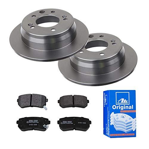 2 Bremsscheiben Ø262 Voll + Bremsbeläge ATE Hinten P-A-02-00276 Bremsanlage