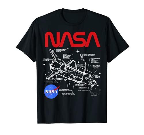 NASA Space Shuttle Schematic Layout Graphic T-Shirt