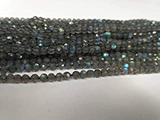 "Jewel Beads Natural Beautiful jewellery 1 Strand Natural Fine Quality Labradorite Round or Balls Faceted Beads 3.5-4mm 13"" Strand Code:- JBB-13291"