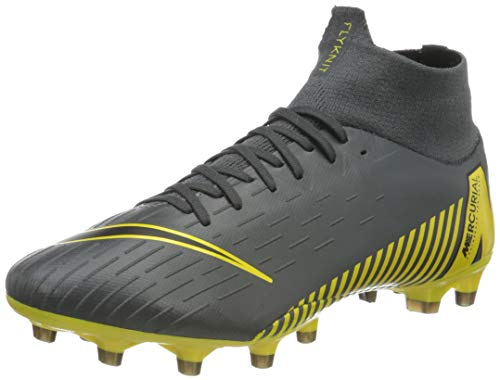 Nike Herren Superfly 6 Pro FG Fußballschuhe, Grau (Dark Grey/Black-Opti Yellow 070), 45 1/3 EU