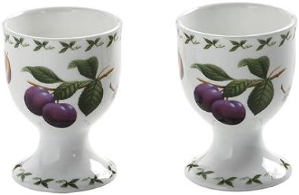 Preisvergleich für Maxwell & Williams PB8404 Orchard Fruits Eierbecher, Eierhalter, Motiv: Pflaume, 2er Set, in Geschenkbox, Porzellan