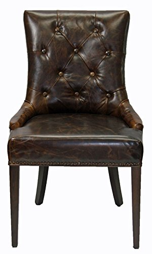 ARTeFAC R-1071 Antique Coco Top Grain Leather Dining Chair