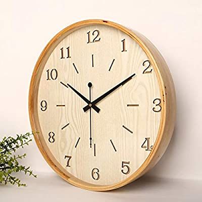 Chyoieya 16 Inch Large Modern Wall Clock Wooden Kitchens Gift Ideas Wall Watches Bathroom Clock Relojes