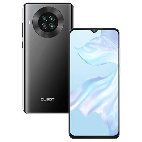 CUBOT Note 20 Smartphone ohne Vertrag, 6.5 Zoll HD Bildschirm, 4200mAh Akku, Android 10.0, 3GB RAM + 64GB ROM, 4G Handy, AI Kameras, Dual SIM, NFC, Face ID, Deutsche Version, Schwarz