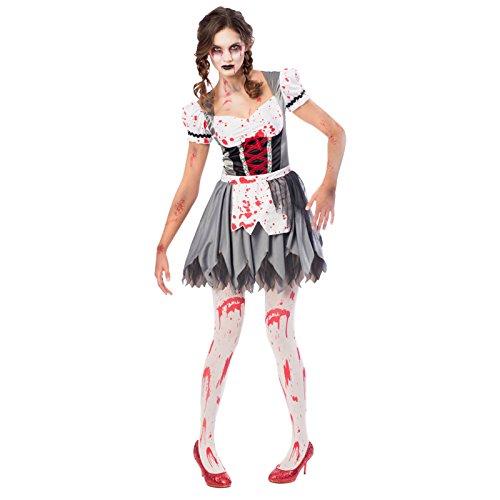 amscan Adults-Size Zombie Miss Oktoberfest Costume Adulti-Taglia 16-18, 9902714