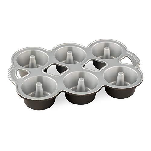 Nordic Ware Mini Angel Cakes Pan, 6-Cup, Graphite