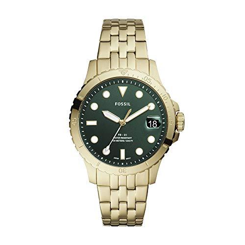 Fossil Reloj de cuarzo casual para mujer FB-01 de acero inoxidable inspirado en buceo