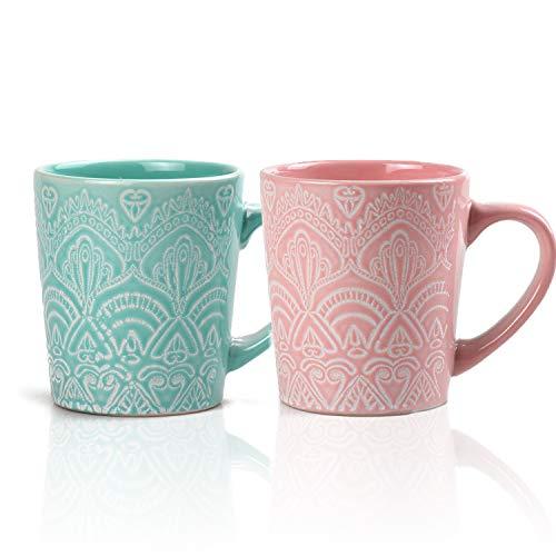 MiliPow Hannah's Choice Fine Patterns and Texture Mug - Juego de tazas...