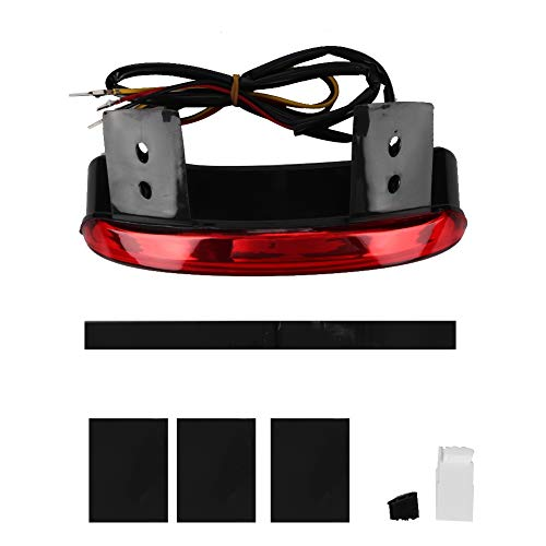 Duokon Motorcycle LED-achterlicht Remlicht, PP-lijm LED-lamp Motorfiets achterlicht Accessoires Transparant gemodificeerde lamp(Rood)